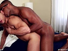 Brock Avery is a stud who has a mad love for big black dicks. He is happiest when his mouth are stuffed with delicious black dick. Brock loves to bend over and take it in the ass, like a champion. This beefy hunk enjoys getting his asshole stretched wide open.