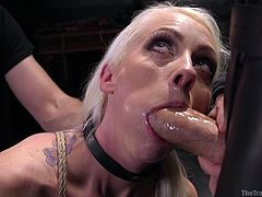 You need to have strong will power to become a perfect obedient slave. Experienced master Owen Gray, trains Lorelei Lee for a week and the training includes lot of BDSM activities, whipping, shaking orgasms, punishments, breath control and brutal fucking sessions including threesome.