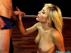Did you know Tasha Reign takes yoga lessons in Philly? Well she finds out class is closed for the day and wants to have her own session. Tasha's session consists of her clothes flying right off... Titty sucking a handjob and of course titty fucking. Much going on in this video.This is a course the instructor will remember forever.