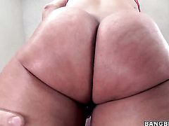 Candice Dare with bubbly bottom gets her nice face cum plastered on cam for your viewing pleasure