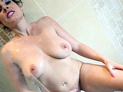 Milf wants you to jerk off to her in the shower