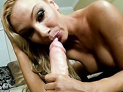 Blonde having fun with sex toy