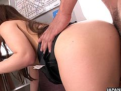 Publicly being fucked is exactly what Mami wanted and she even got. She is fucked by a pussy bandit on a subway train and she is sucking his cock off. She cums so strong.