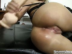 Bianca Lovely is curious about butt hardcore fucking with hard dicked dude Rocco Siffredi before blowjob