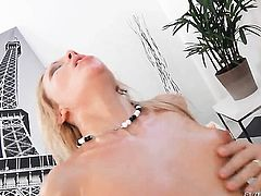 Lolli Moon wants Omar Galantis schlong in her mouth desperately and gets it before she gets assfucked