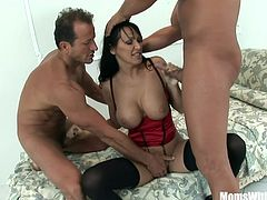 Wife Mandy Bright With Two Cocks Into Her Pussy