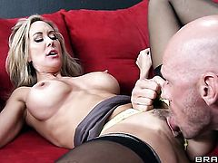Johnny Sins is ready to make gorgeous Brandi Loves every sex dream a reality