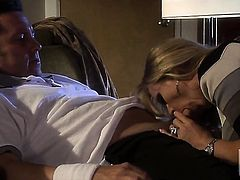 Dyanna Lauren puts her luscious lips on sturdy ram rod
