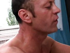 Nessa Devil with huge tits takes Rocco Siffredis cum loaded love wand in her butthole after cock sucking