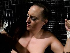 Brunette Mandy Bright with huge tits and Hellena show their love for snatch in lesbian action