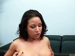 Brunette Charity Bangs gets cum drenched