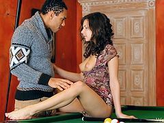 Henessy Plays Pool With A Big Black Cock