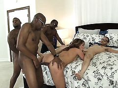 Sean Michaels buries his hard boner in extremely hot Donny Sinss ass way