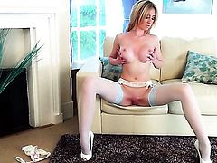 Perri Doran plays with sex toy