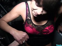mature brunette cheats husband for extra cash