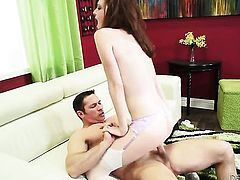 Emma Evins and her hot bang buddy John Strong both enjoy blowjob session