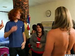 Group sex at a dorm party