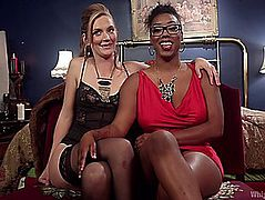 Mona Wales And Lisa Tiffian have lesbo slavery sex