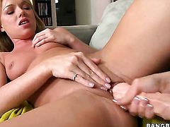 Brunette Samantha Saint with big butt is in heat in girl-on-girl action with lovely Trisha Uptown