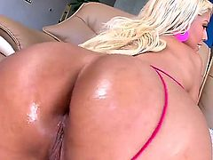 Bridgette B is massaging a dick with her huge tits. She gets a creampie after being really gentle with the firm shaft. Then she does anal with the guy.