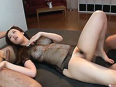 Yui Kasuga getting satisfaction with guys fuck stick in her horny. hot mouth