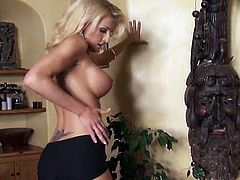 Big-Titted And Awesome White haired Is seducing Her Own Beaver