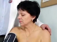 The Mature female has Her hirsute cooter Examined By the Doctor