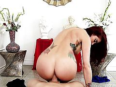 Brunette exotic Monique Alexander with big boobs and smooth muff and her sex partner fuck like rabbits