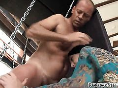 Rocco Siffredi exlodes after Senorita Eliska Cross gives magic suck job after anal sex