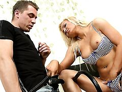 Jenna Lovely jerks guy off