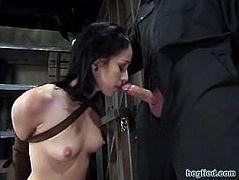 Blowjob in armbinder