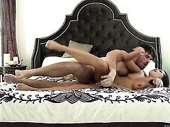 Manuel Ferrara gets pleasure from fucking passionate Adriana Chechiks throat before anal fun