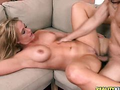 Blonde Holly Heart believes that fresh cum gives her sexual energy