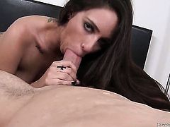 Domenic Kane lets dude shove his stiff worm in her mouth