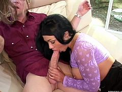 Cock sucking babes are naughty and have the crazy sex adventure