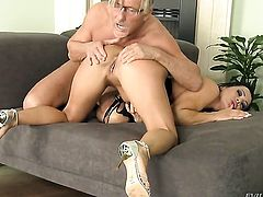 Christoph Clark is horny as hell and cant wait any longer to pound attractive Sandra Romains cornhole after she gets her mouth fucked