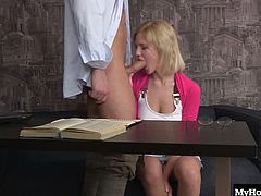 Brianna has a little Russian butt thats craving a big white dick up it. She convinces her study buddy to take a break from memorizing formulas and take out his dick so she can work it with her holes till he cums. She doesnt let her butt hole go untouched, and he loves her tightest hole.