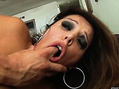 Chris Strokes cant resist guys throbbing fuck stick and takes it in her mouth