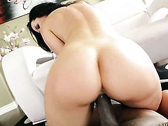 Jayden Jaymes cant wait to be banged by her hot man in interracial action