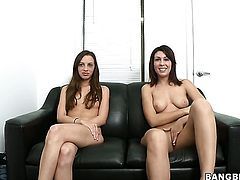 Brunette Natalie Nunez has a good time doing it with hard dicked fuck buddy