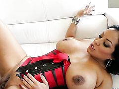 Well-experienced tart Lexington Steele asks her fuck buddy to shove his erect snake in her mouth