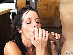 Blonde April Oneil satisfies her sexual desires with mans hard love wand in her fuck hole