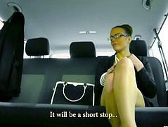 FuckedInTraffic - Horny chauffer George Uhl fucking office lady Samantha