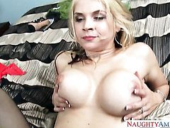 Blonde exotic Sarah Vandella takes mans cum loaded love stick in her beaver