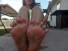 Latina oily soles&Toes Tease