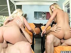 Blonde Nicole Aniston with round butt makes her sex dreams a reality with her hot bang buddy