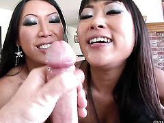 Tia Ling needs nothing but man semen on her face to be happy