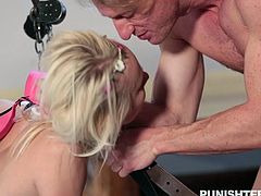 Chained, choked, makeup smeared and a cock down her throat, young Maddy Rose is learning early how to behave, and her lover makes sure of it. He humiliates her and ties her up, just so she doesn't forget her place.