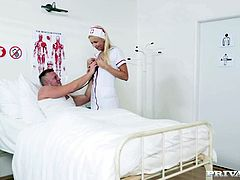 nurse karol lilien treats a patient to her warm pussy