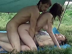 In Nature's Garb Beach Fantasies threatening-threatening Cazy double penetration on the beach